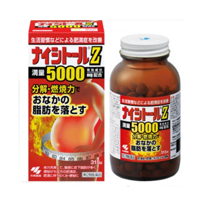 Viên uống giảm cân, tan mỡ bụng Naishitoru Z 5000mg Kobayashi 315 viên